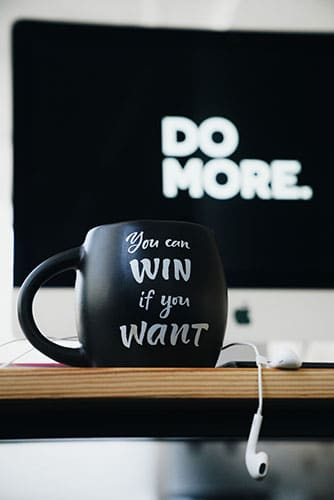 Мотивация. Кружка с правильной надписью.